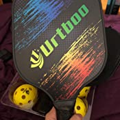 Amazon.com: Urtboo - Raquetas de pala de Pickleball, grafito ...