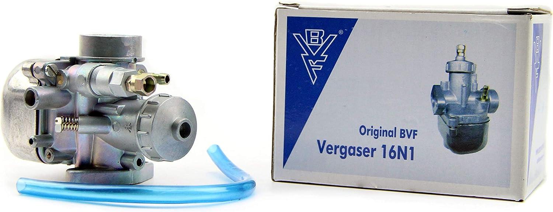 Original Bvf Vergaser 16n1 6 Mit Überlaufschlauch 50 Er Hauptdüse Simson Sr4 4 Habicht Bisomo Sticker Auto