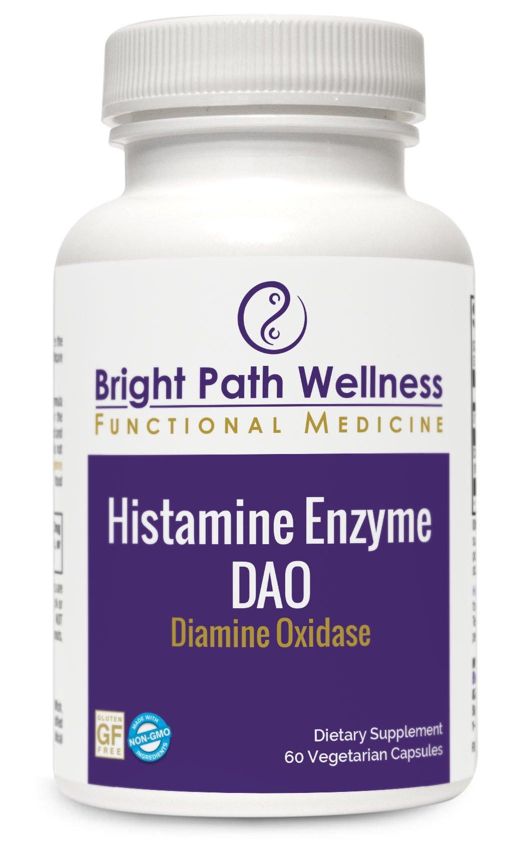 Histamine Enzyme - Diamine Oxidase - 60 Vegetable Capsules - 30 Servings - Non-GMO, Gluten Free