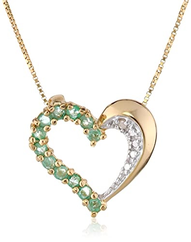 diamond yellow pendant heart half gold index