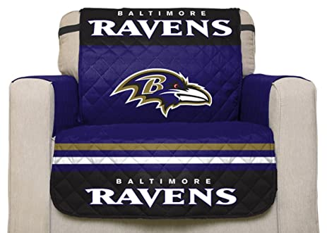 NFL Baltimore Ravens Chair Reversible Furniture Protector With Elastic  Straps, 75 Inches By 65
