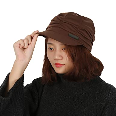Très Chic Mailanda Casquette de Baseball Femme Pliable Bonnet en Coton  Chapeau Automne Hiver Taille Unique e04ecfd74ab