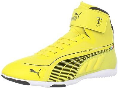 buy online e45d4 7732a PUMA Men s Speed Cat Superlt Mid Ferrari Fashion Sneaker,Vibrant  Yellow Black,6