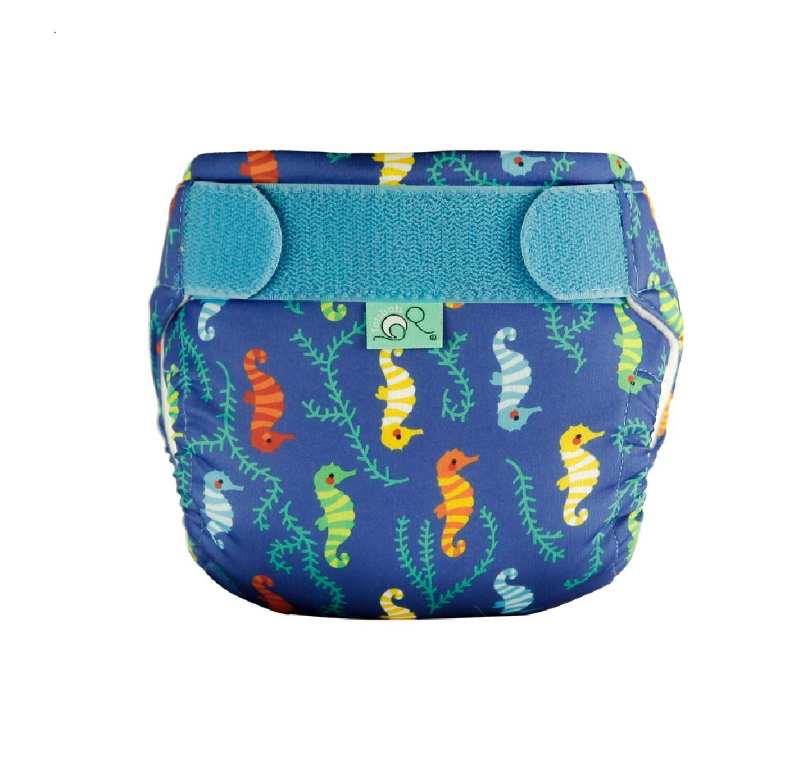 TotsBots Swims - Wee Seahorses Design Reusable Washable Swimming Nappy in size 2, 20-35 lbs Tots Bots Limited 5060510761674