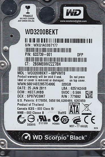 """Western Digital Scorpio Black WD3200BEKT 320GB 7200RPM 16MB SATA 2.5/"""" Hard Drive"""