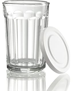 Amazing Arc International Luminarc Working Glass Storage Jar/Cooler With White Lid,  21 Ounce