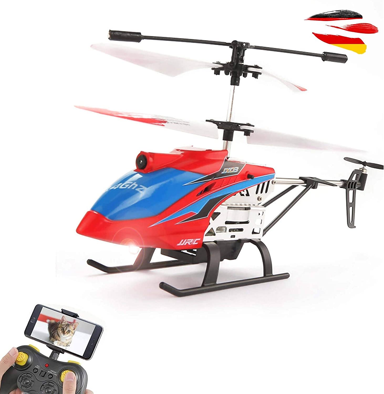 Himoto HSP Mini helicóptero teledirigido de 4 canales 2,4 GHz con cámara HD WiFi de transmisión en directo, juego completo con batería de polímero de litio