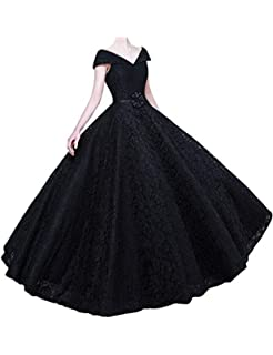 Stillluxury Swing Prom Dresses Cap Sleeve Lace Long Formal Plus Size Evening Gown Women PM1