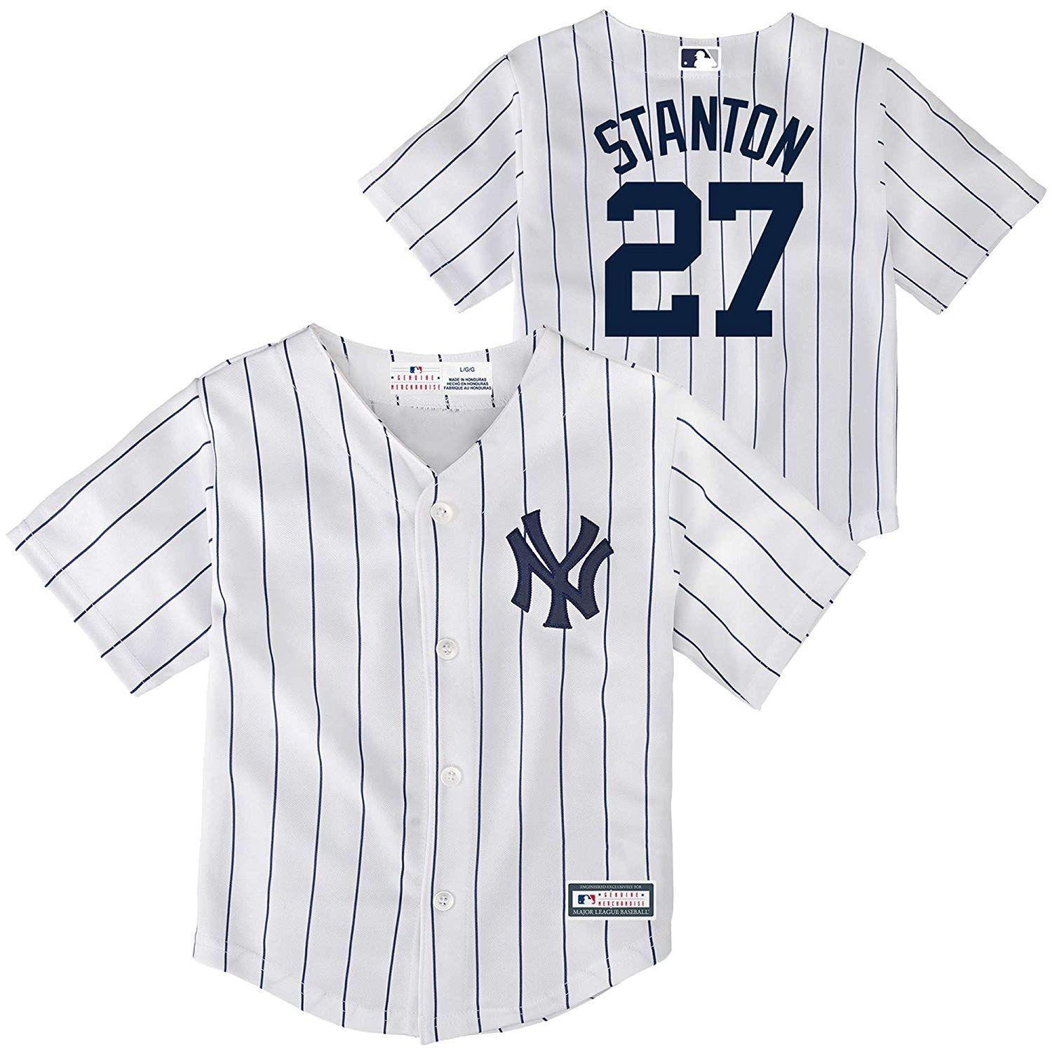 36e9d5fb0 ... real amazon outerstuff giancarlo stanton new york yankees 27 infants  toddler cool base home replica jersey