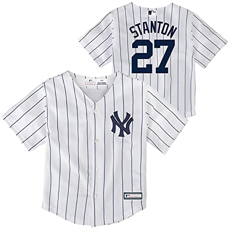 5e938162b Outerstuff Giancarlo Stanton New York Yankees  27 Infants Toddler Cool Base  Home Replica Jersey (