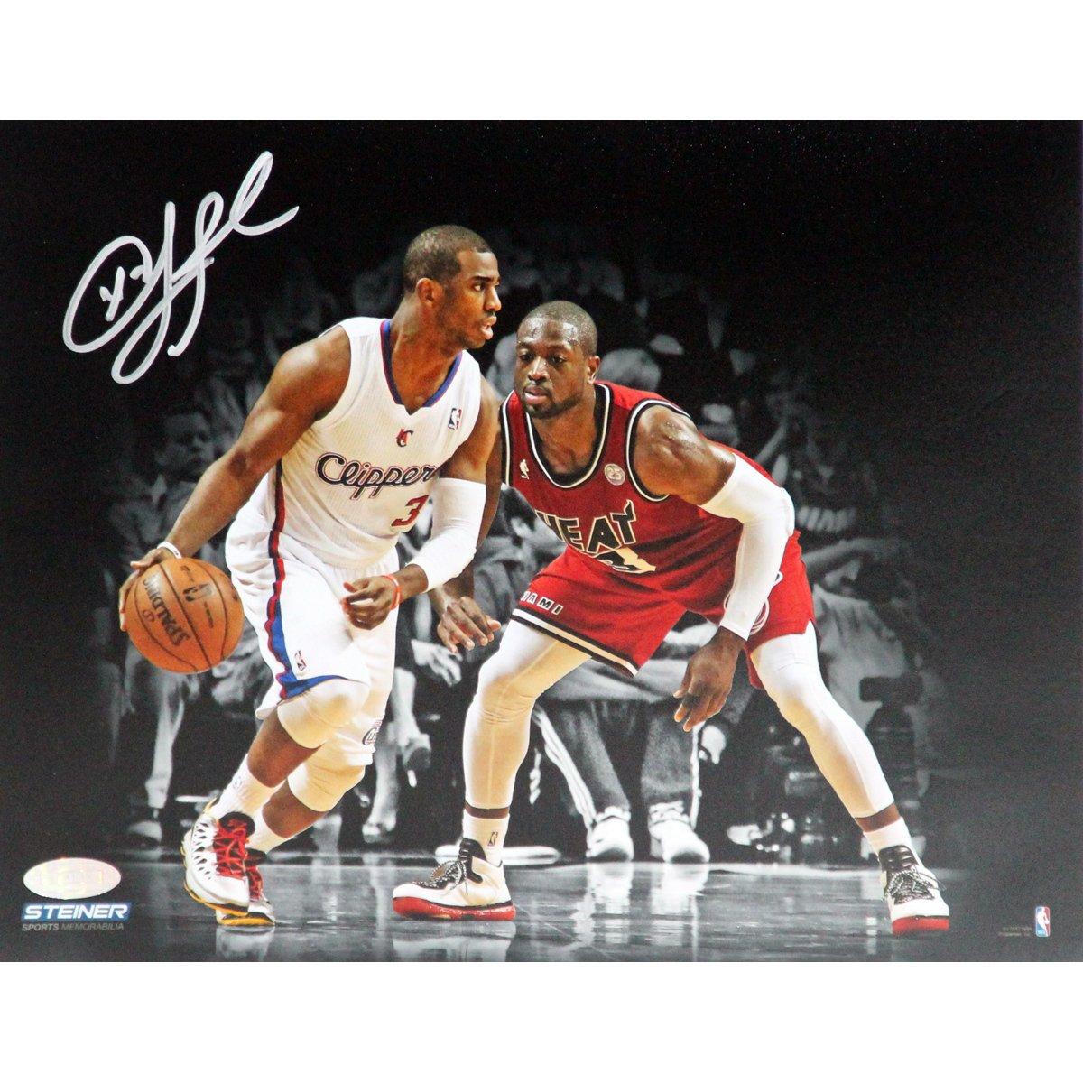 NBA Los Angeles Clippers Chris Paul vs Dwayne Wade Signed Photo, 8 x 10-Feet
