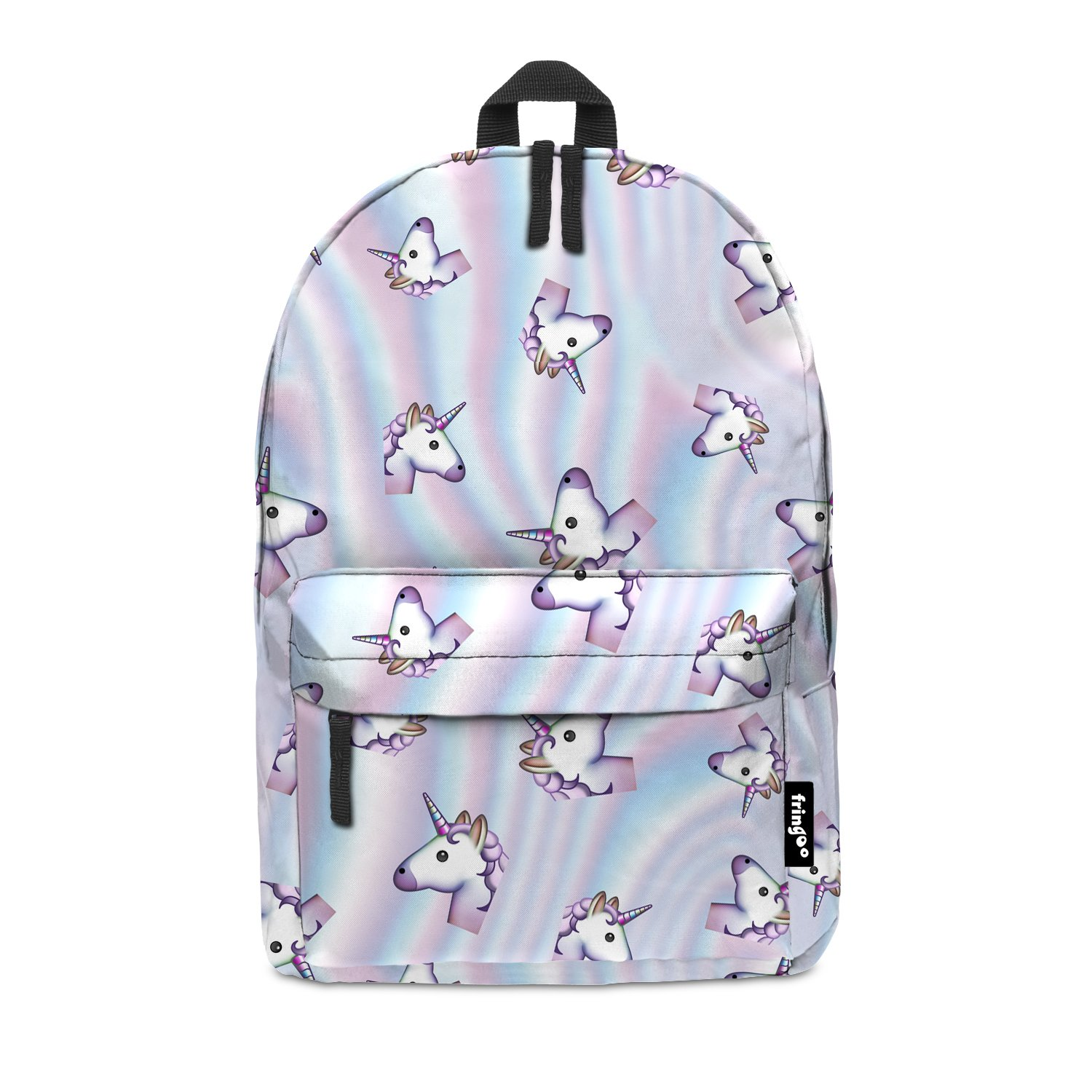 bb1290676c1 Fringoo® HOLO UNICORN Girls Boys Kids Backpack School Bag Rucksack Daypack  Travel Hand Luggage Emoji Hologram Bag (HOLO UNICORN)