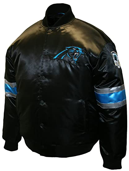 Amazon.com   NFL Men s Carolina Panthers Prime Satin Jacket (Black ... 6a6674c4d
