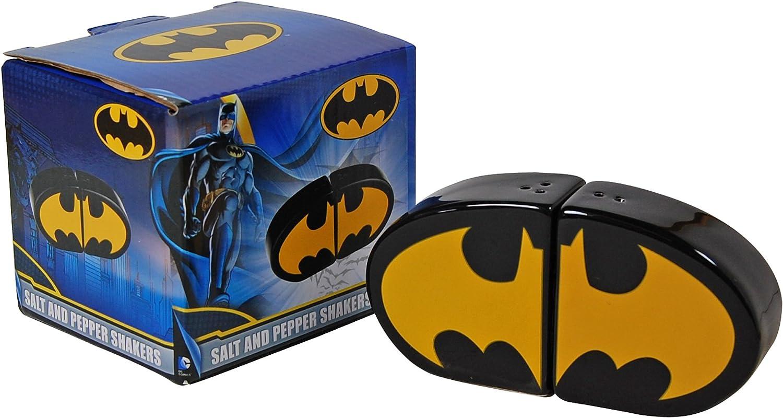Batman Salero y pimentero, cerámica, Negro, 6 x 6 x 3 cm: Amazon.es: Hogar