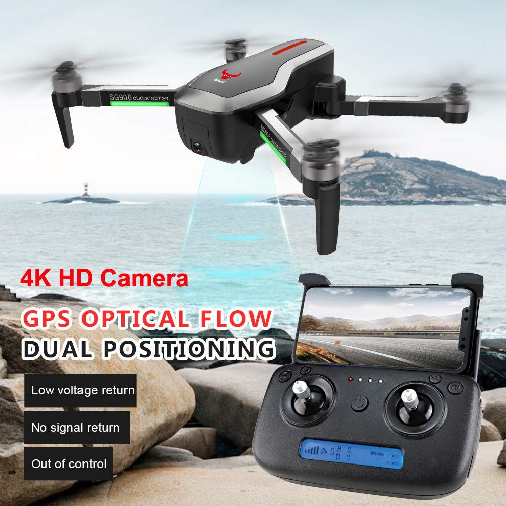 Black The first 4K Ultra HD anti-shake lens Drone  5G WIFI FPV Live Video Drone Extra long standby aircraft Altitude Hold Foldable RC Quadcopter 120° Wide Angle Camera GPS,Optical Flow Dual Positioning (E)