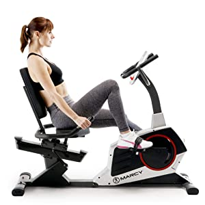 Marcy Regenerating Recumbent Exercise Bike with Adjustable Seat