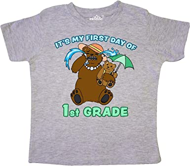 inktastic Its My 1st Day of 1st Grade with Bear Family Toddler T-Shirt
