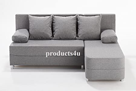 Porto Cheap New Fabric Corner Sofa With Storage Sofa Bed In Grey