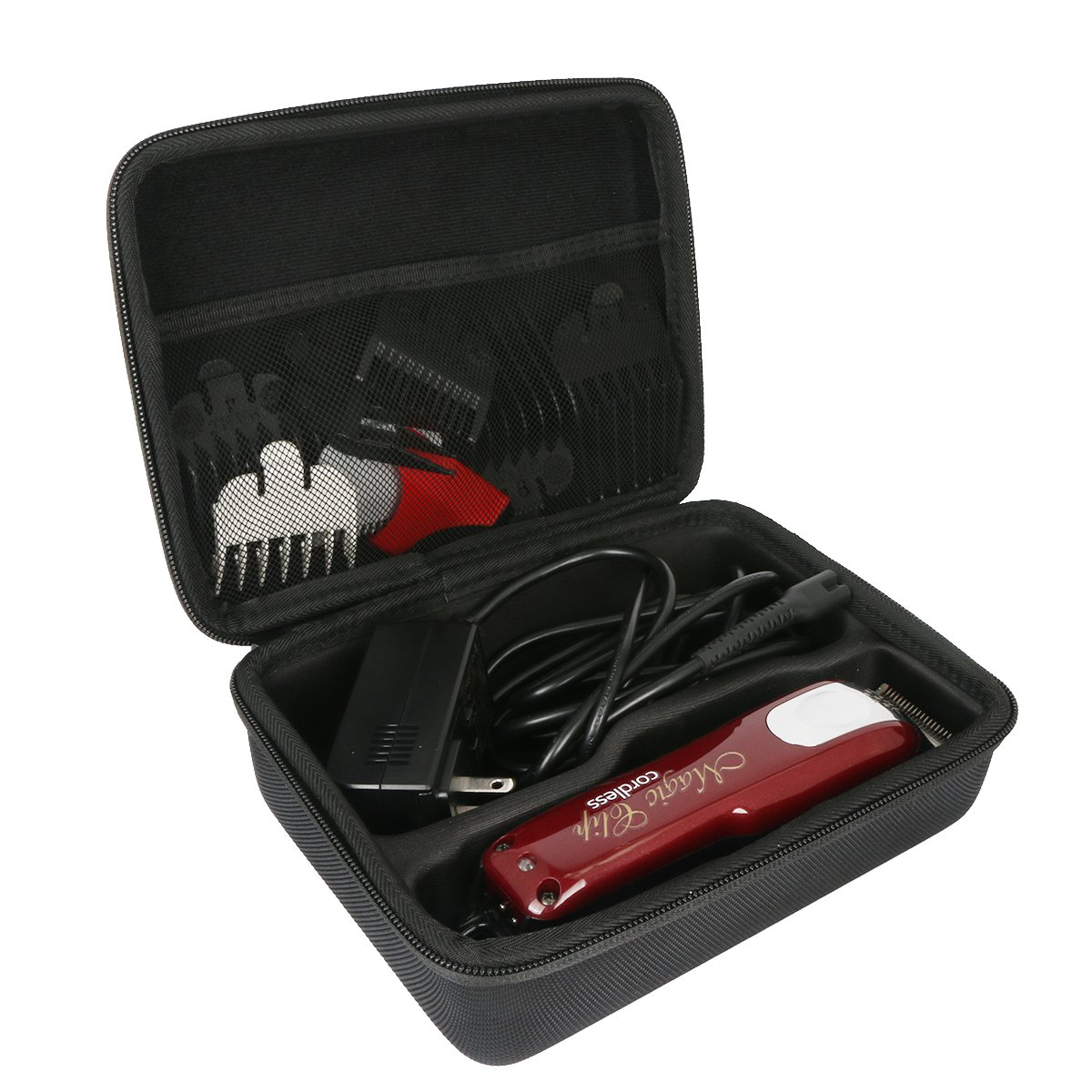 Hrad Travel Case for Wahl Professional 5-Star Cord/Cordless Magic Clip #8148 – Great for Barbers and Stylists by Khanka