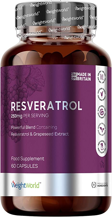 Pure Trans Resveratrol Capsules 250mg Concentrated Immune
