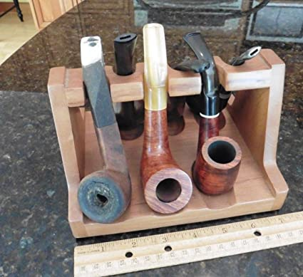Amazon com : Vintage wooden Pipe Stand with 6 Estate find