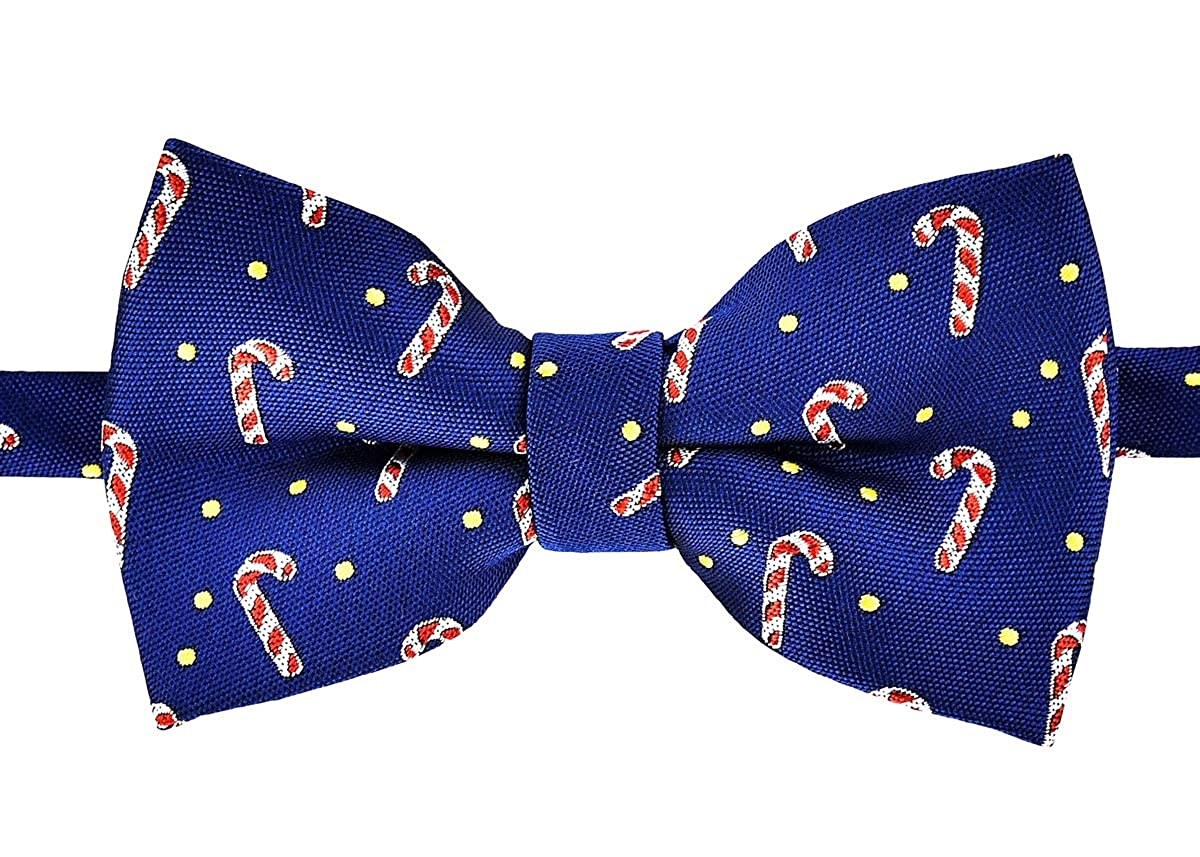 Retreez Delightful Christmas Candy Canes Pattern Pre-tied Boy's Bow Tie