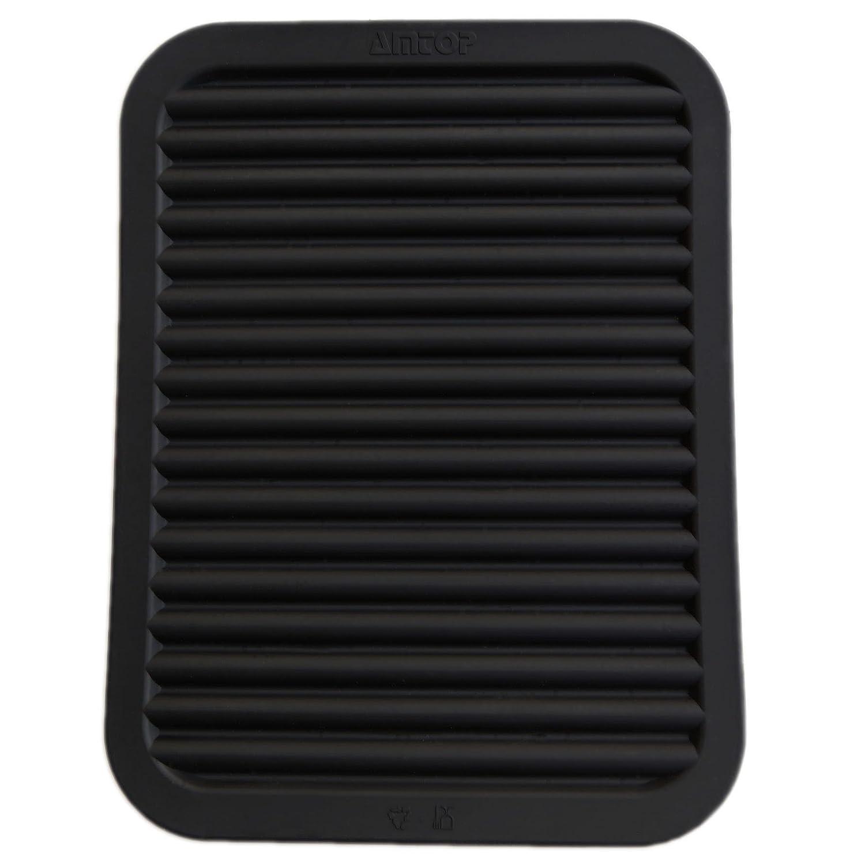 "9"" x 12"" Silicone Pot Holder, Trivet Mat, Baking Gadget Kitchen Table Mat, Silicone Drying Mat, Draining Board - Waterproof, Heat Insulation, Non-Slip, Trivet, Tableware Pad Coasters (Black)"