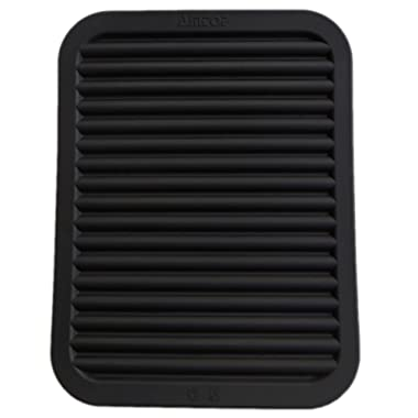9  x 12  Silicone Pot Holder, Trivet Mat, Baking Gadget Kitchen Table Mat, Silicone Drying Mat, Draining Board - Waterproof, Heat Insulation, Non-Slip, Trivet, Tableware Pad Coasters (Black)