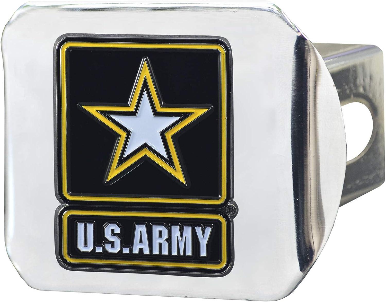 SLS Army 3D Color Emblem Chrome Hitch Cover