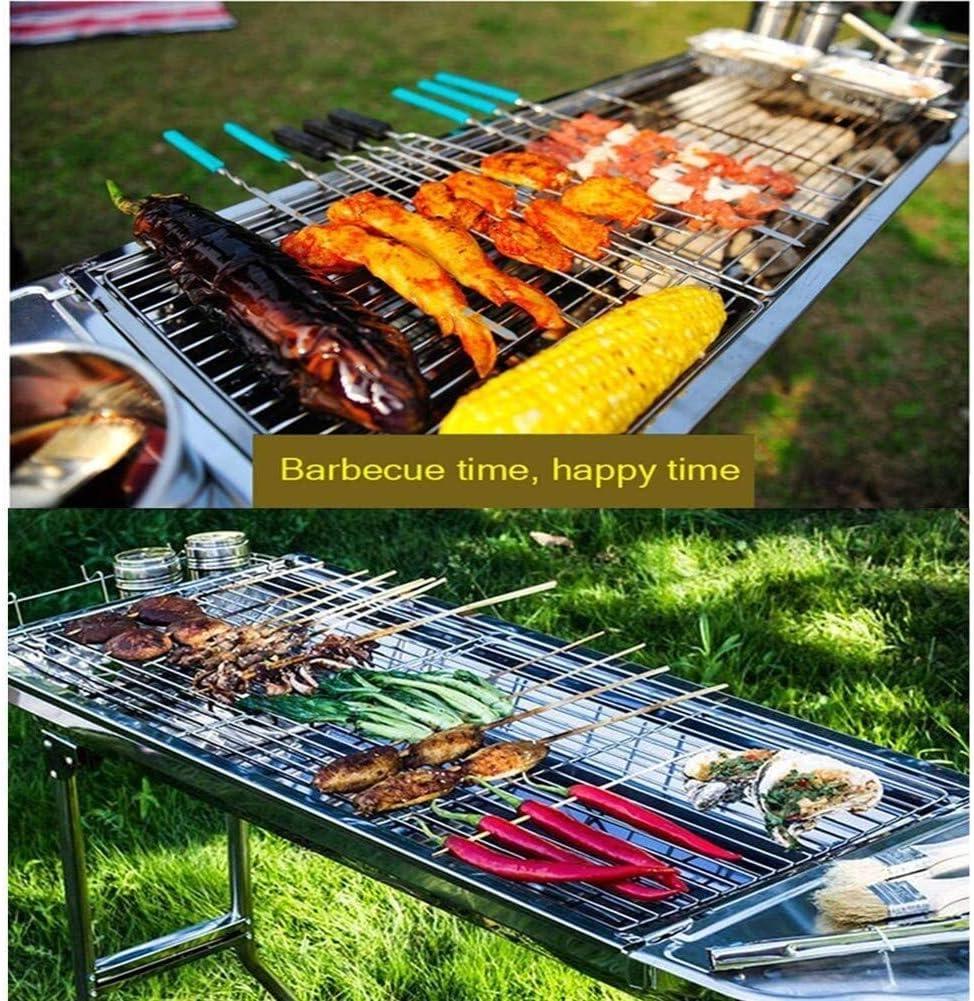 Barbecue Grill Portable BBQ Grill Épaissi en Acier Inoxydable Extérieur Charbon De Bois Grill pour Camping Pique-Nique Garden Party Lili (Couleur: Noir) Yellow
