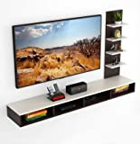 "Bluewud Primax TV Entertainment Wall Unit/Set Top Box Stand (Large/Ideal for up to 55"") (Large)"