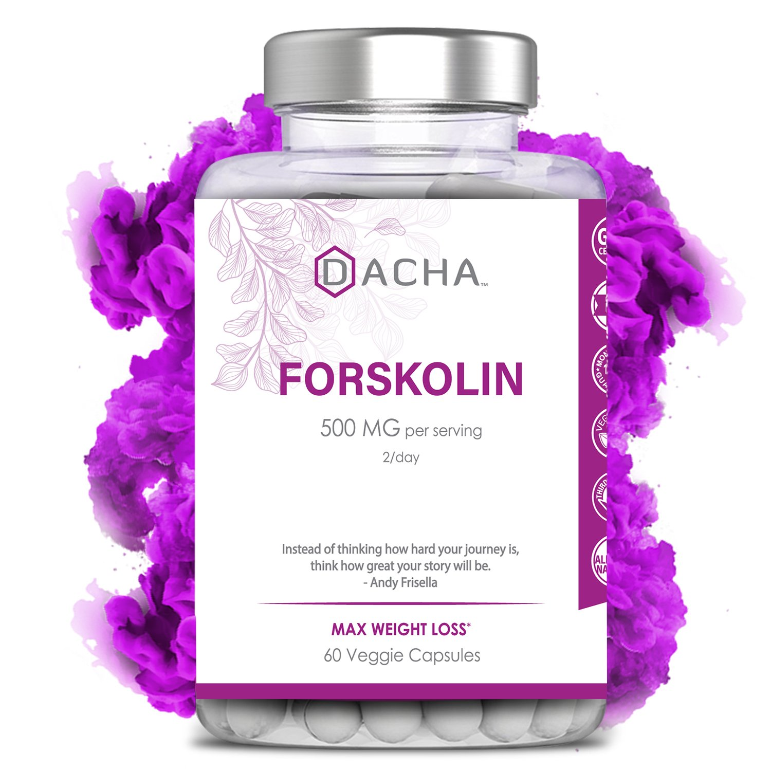Premium Forskolin for Weight Loss - Natural Carb Blocker, Powerful Belly Fat Burner for Men, Pure Appetite Suppressant, Metabolism Booster Extract, Keto Diet Pills That Work Fast for Women, Luna Trim by DACHA Nutrition