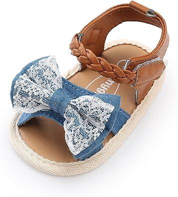 Soft Sole Infant Girl Summer Crib Shoes Princess Dress Flats RVROVIC Baby Girl Sandals