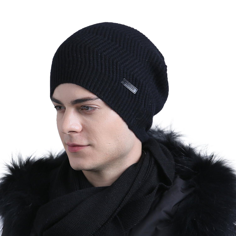 248bb552 CACUSS Men's 100% Merino Wool Knit Beanie Hat - Winter Warm Headwear - -:  Amazon.co.uk: Clothing
