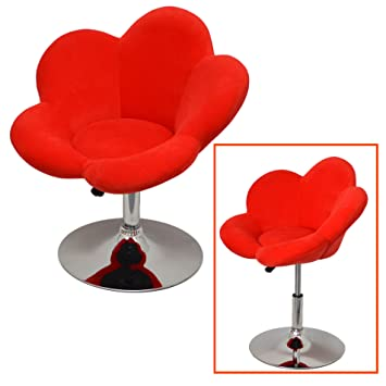 Rote Barhocker amazon de 1x barhocker rote blume design lounge sessel barsessel