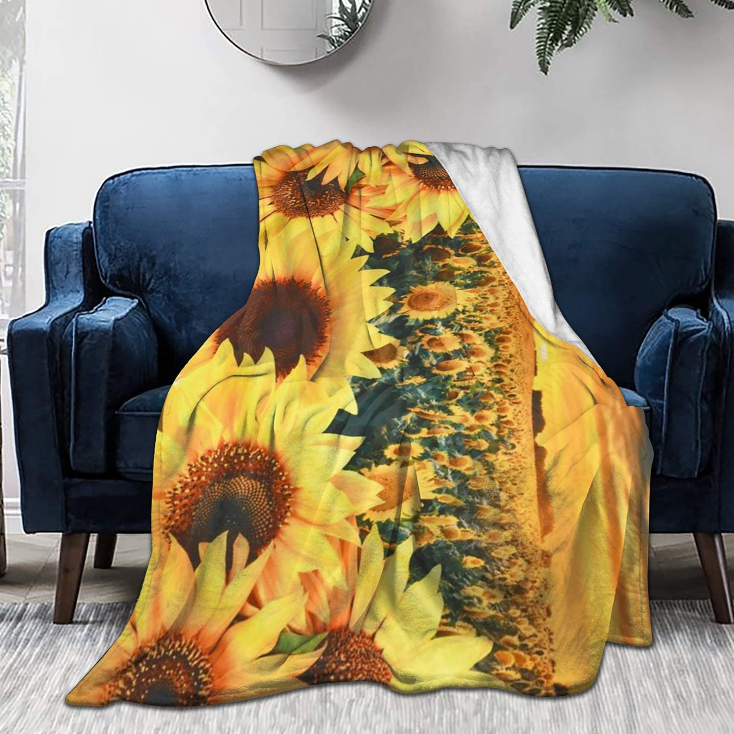 Sunflower Fleece Sofa Blanket
