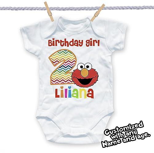 Elmo Birthday Shirt Girl