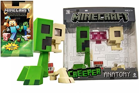 Amazon Minecraft Big Creeper Figure Minecraft Foil Trading