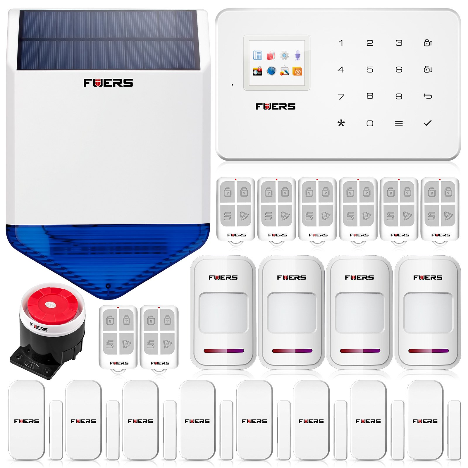 Fuers G18 GSM SMS LCD Wireless Home House Burglar Alarm System Kit Solar Siren by Fuers