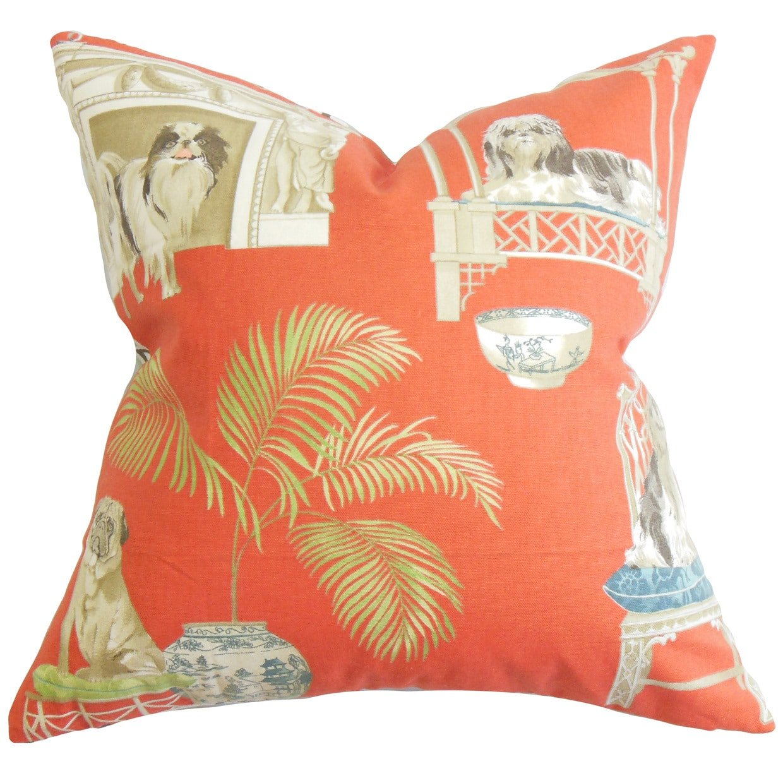 The Pillow Collection QUEEN-D-42365-CLAY-C100 Clay Zuzela Animal Print Bedding Sham, Queen/20'' x 30''