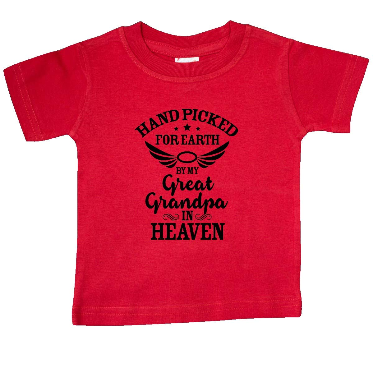 inktastic Handpicked for Earth by My Great Grandpa in Heaven Baby T-Shirt