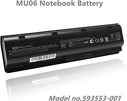 Amazon Com 593553 001 Battery Replacement For Hp Compaq Presario Cq32 Cq42 Cq43 Hp Pavilion Dm4 G4 G6 G7 593554 001 636631 001 584037 001 593550 001 593562 001 Fit With Mu06 Mu09 Hp Notebook Battery Home Audio Theater