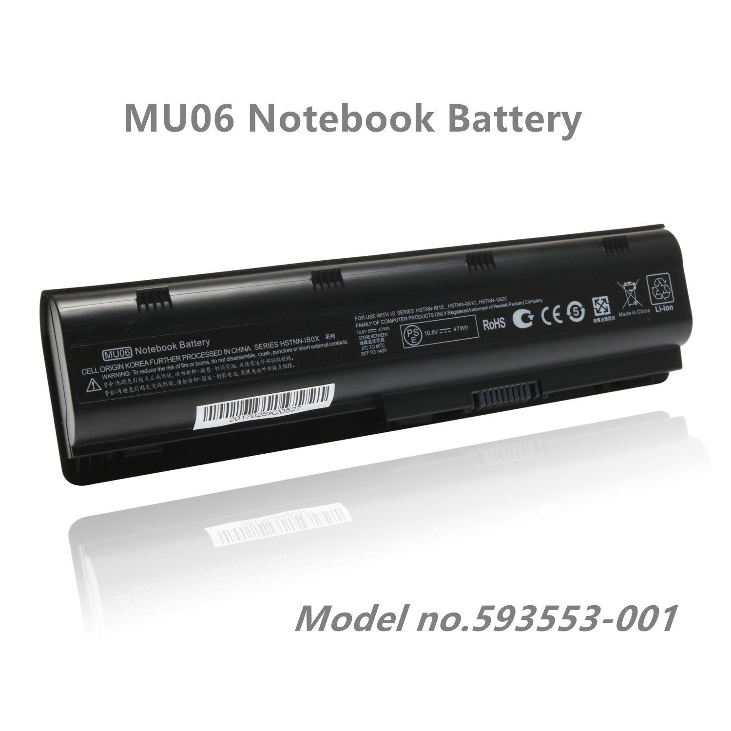 SKstyle Replacement Laptop Battery for 593553-001-HP Battery- MU06 Notebook Battery