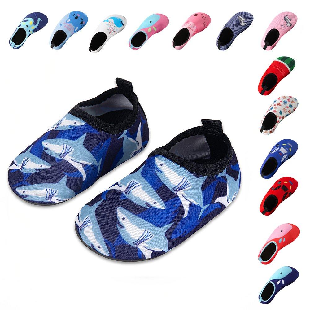 09f0db86a17c2 Laiwodun Zapatos de niño Zapatos de Agua de natación Niños Zapatos de niños  Descalzo Aqua Calcetines para la Piscina de Playa Surf Yoga Unisex   Amazon.es  ...
