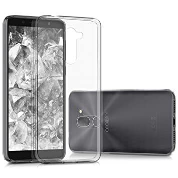 kwmobile Funda para Alcatel 3X - Carcasa Protectora de [TPU] para móvil - Cover [Trasero] en [Transparente]