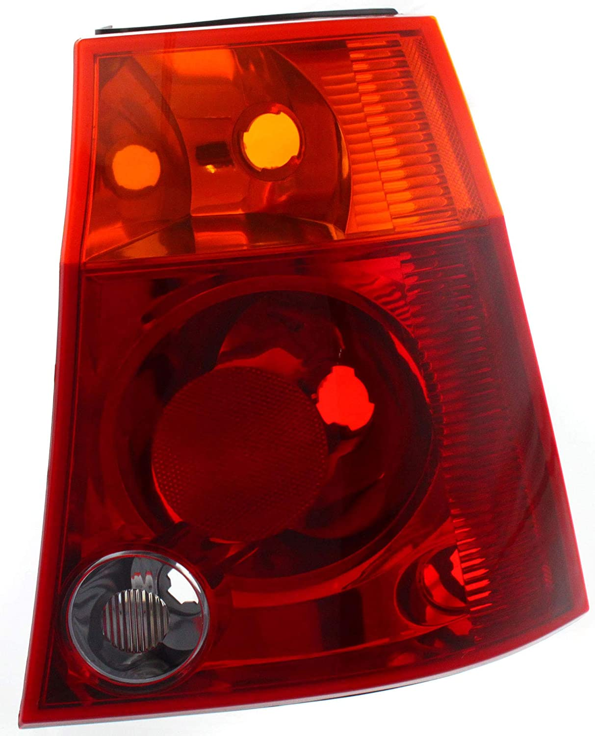 Tail Light Lens and Housing Compatible with 2004-2008 Chrysler Pacifica Red and Amber Lens Passenger Side