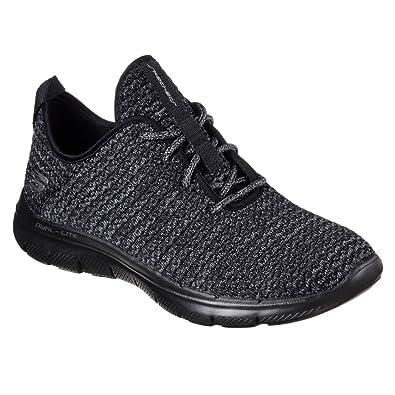 Skechers Synergy 2.0-Simply Chic, Zapatillas Sin Cordones para Mujer, Negro (Black/White), 35.5 EU