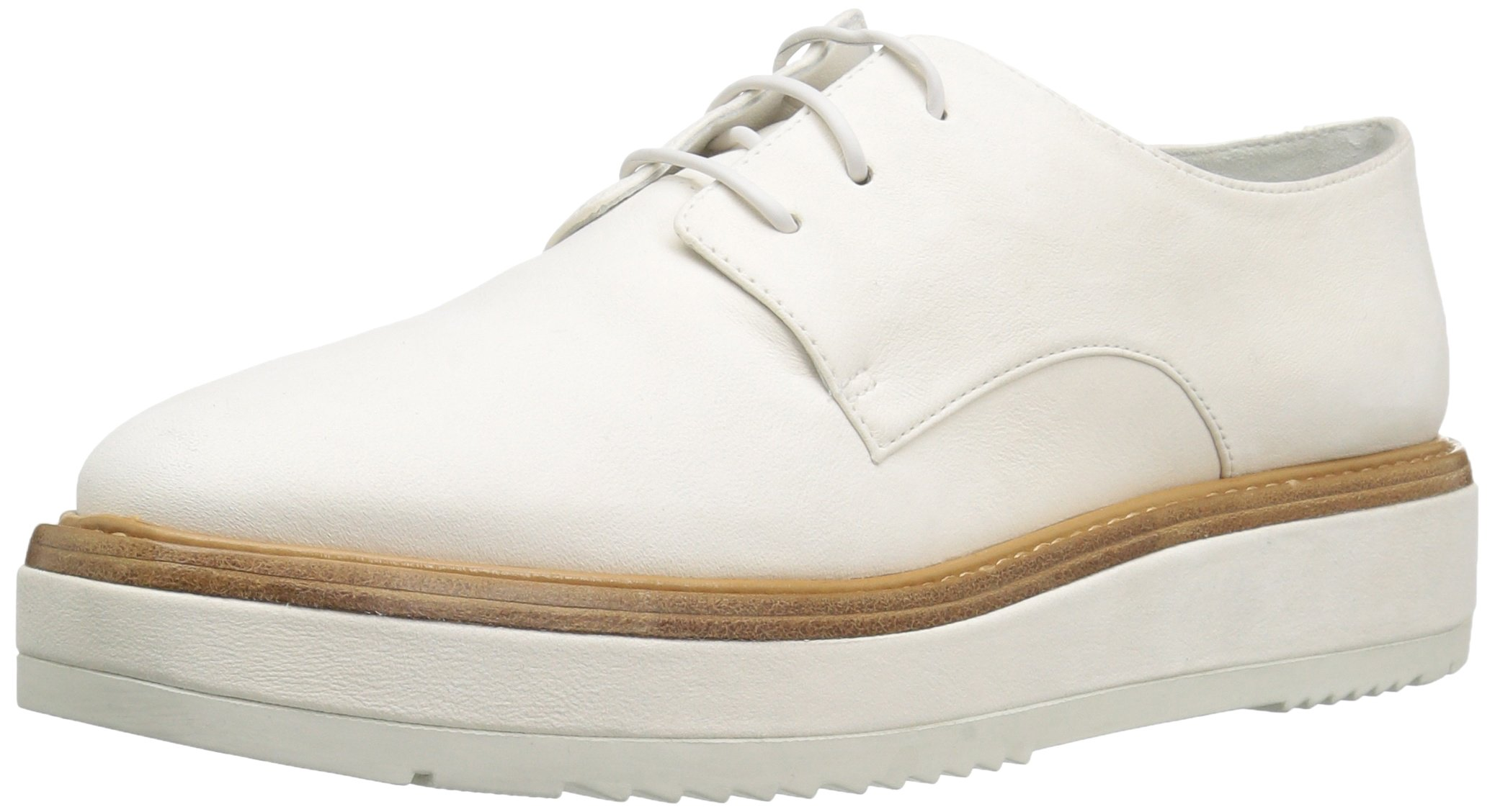 Vince Women's Tanner Leather Oxford, White, 9.5 M US