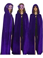 ECITY Unisex Adult Women/Man Hooded Cloak Role Play Costume Cosplay Christmas Cape
