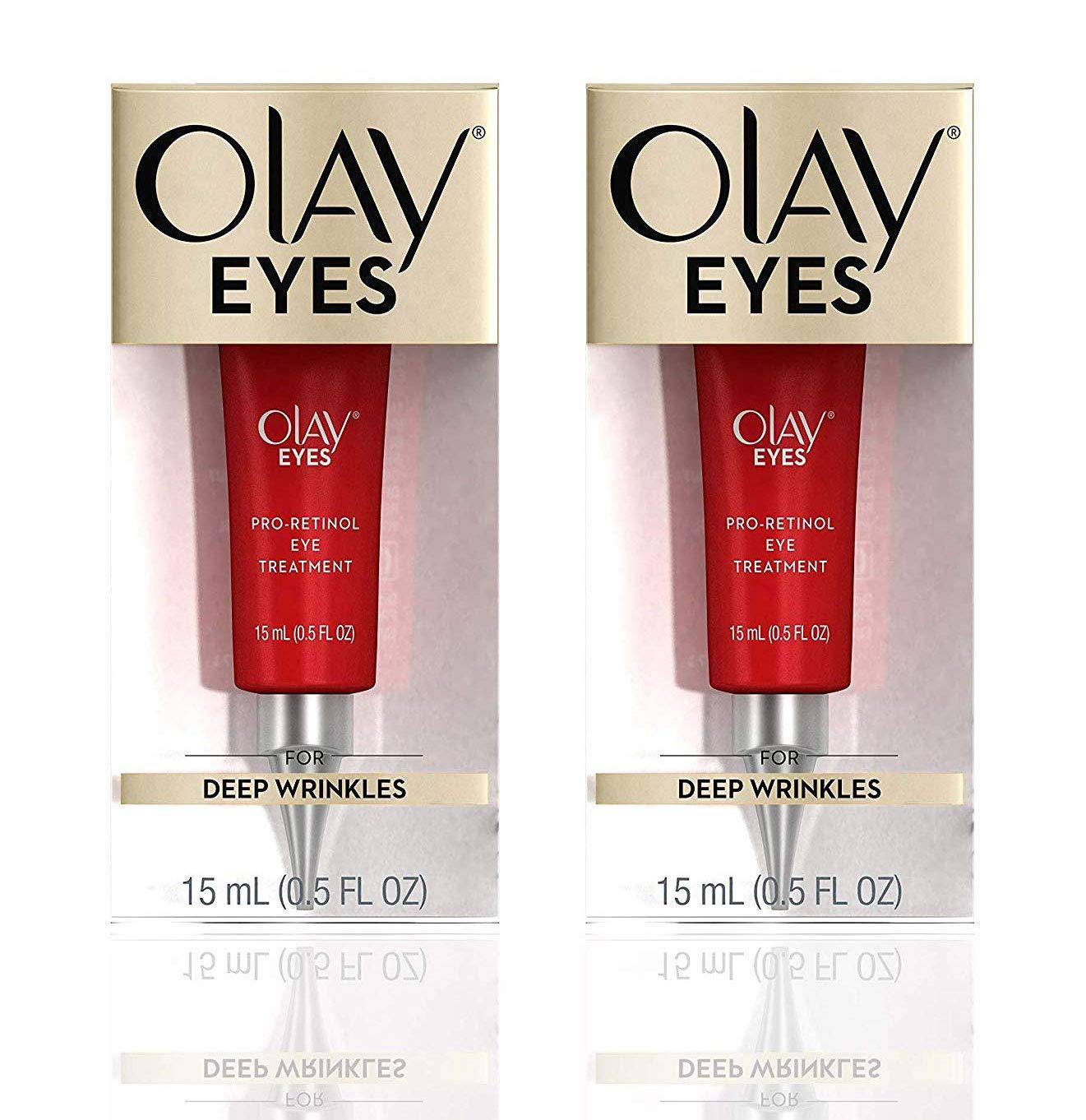 (PACK of 2) 0lay Eyes Pro-Retinol Eye Treatment for Deep Wrinkles - 0.5 Fl Oz (15 ml) EACH